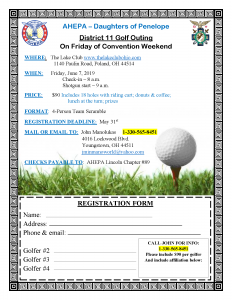 District 11 Golf Outing Registration Deadline @ The Lake Club | Poland | Ohio | United States